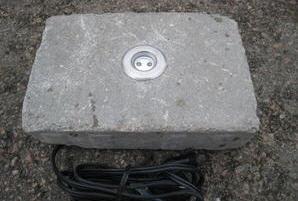 Belysning i stenplattor